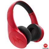 Fone de Ouvido Wireless Motorola com Bluetooth Headphone Vermelho - Pulse Escape