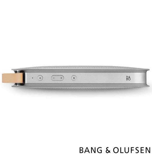 Caixa Acústica Bluetooth Bang & Olufsen com Potência de 180 W Aluminio - BeoPlay A2, Bivolt, Bivolt, Alumínio, Caixa Acústica Externa, Não se aplica, Sim, 180 W, Não, Sim, Não especificado, 55  - 24.000 kHz, Não, 24 meses