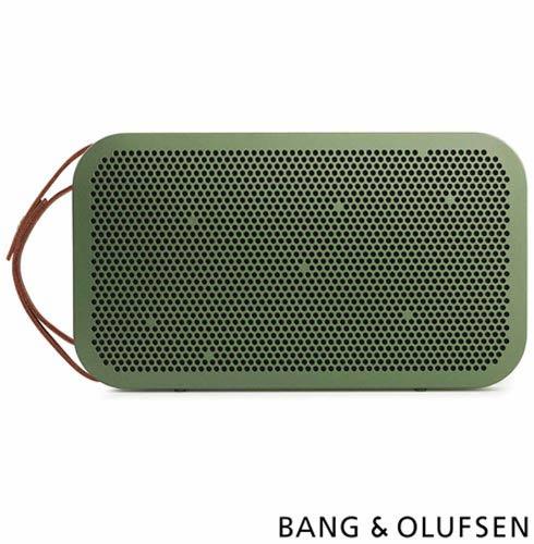 Caixa Acústica Bluetooth Bang & Olufsen com Potência de 180 W Verde - BeoPlay A2, Bivolt, Bivolt, Verde, Caixa Acústica Externa, Não se aplica, Sim, 180 W, Não, Sim, Não especificado, 55  - 24.000 kHz, Não, 24 meses