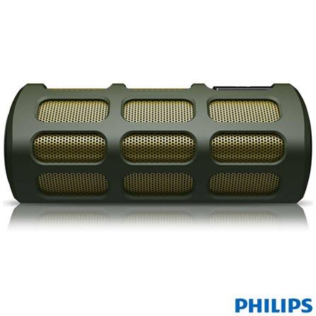 Caixa Acústica Philips Shoqbox SB7220, Bivolt, Bivolt, Verde, Sim, 4 W, Não, Não, iOS e Android, 12 meses