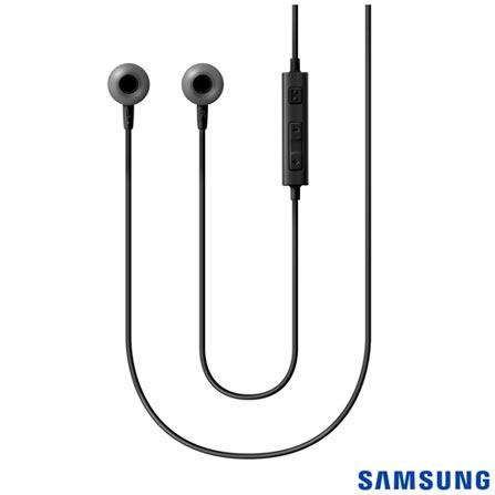 Fone de Ouvido com Fio Estereo com Controle Preto Samsung - EO-HS1303BEGBR, Preto, Intra-auricular, 03 meses