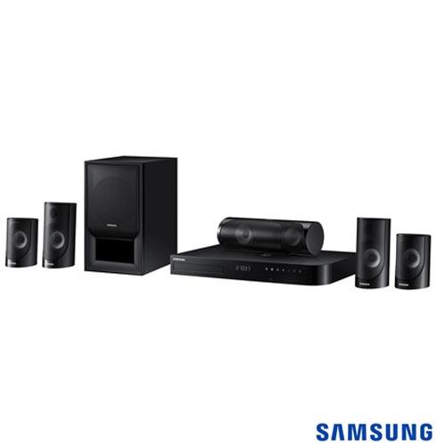 Home Theater Samsung com Blu-ray 3D, 5.1 Canais e 1000W - HT-J5500K/ZD, Bivolt, Bivolt, Preto, Sim, Sim, Não, 5.1, Sim, Não, Não, 12 meses, 1000 W, Sim, Blu-ray 3D Player, Não