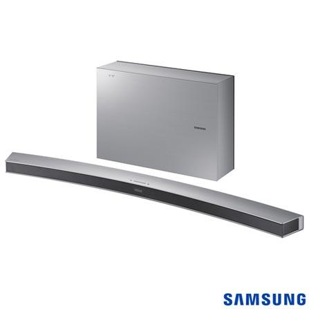 Soundbar Curvo Samsung com 2.1 Canais e 300W - HW-J6001R, Bivolt, Bivolt, Prata, Não, Sim, Sim, Não, 12 meses, 300 W, Sim, 2.1, Não