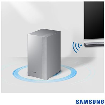 Soundbar Curvo Samsung com Subwoofer Sem Fio, 2.1 Canais e 260W - HW-M4501/ZD, Bivolt, Bivolt, Prata, Não, Sim, Sim, Não, 12 meses, 260 W, Sim