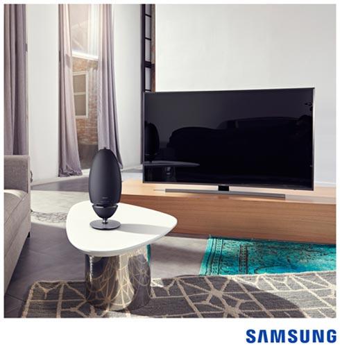 Caixa Acústica Samsung com Potência de 80 W RMS e Conexão Bluetooth com Android e iOS Preta - WAM7500/ZD, Bivolt, Bivolt, Preto, Caixa Acústica Externa, Não se aplica, Sim, 80 W, Não, Não, 4 Ohms, 20 Hz a 20 kHz, Não, 12 meses