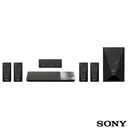 Home Theater Sony com Blu-ray 3D, 5.1 Canais e 900W - BDV-N5200W, Bivolt, Bivolt, Preto, Sim, Sim, Sim, 5.1, Sim, Sim, Não, 12 meses, 900 W, Sim, Blu-ray 3D Player, Sim