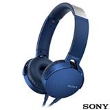 Fone de Ouvido Sony Headphone com Extra Bass Azul - MDR-XB550APL