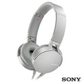 Fone de Ouvido Sony Headphone com Extra Bass Branco - MDR-XB550APW