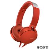 Fone de Ouvido Sony Headphone com Extra Bass Vermelho - MDR-XB550APR