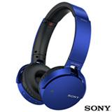 Fone de Ouvido Sony Headphone com Conexao Bluetooth e NFC Azul - MDR-XB650BT