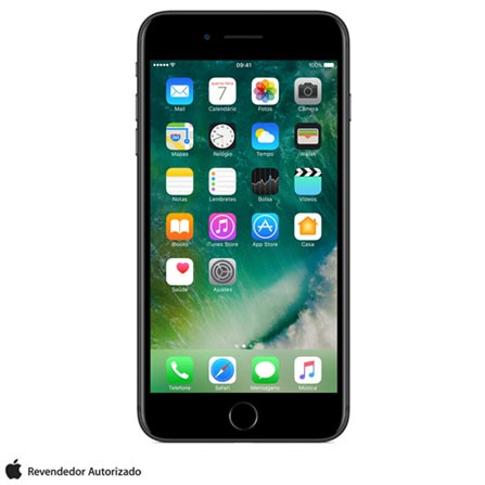 iPhone 7 Plus Preto 5,5, 128 GB, 12 MP - MN4M2BZ/A + Cabo Lightning USB Apple para iPod, iPhone e iPad  MD818BZ/A, 0