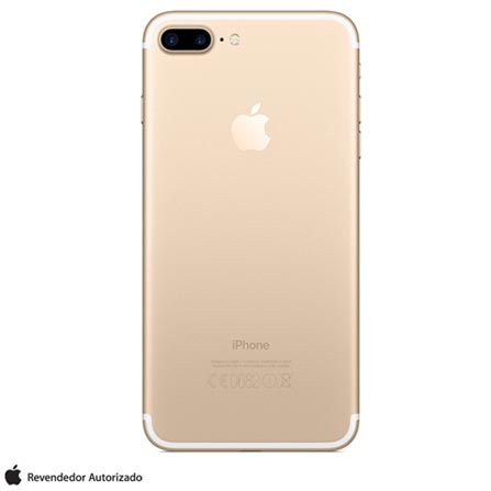 iPhone 7 Plus Dourado, 5,5, 256GB, 12 MP - MN4Y2BZ/A + Cabo Lightning USB Apple para iPod, iPhone e iPad  MD818BZ/A, 1
