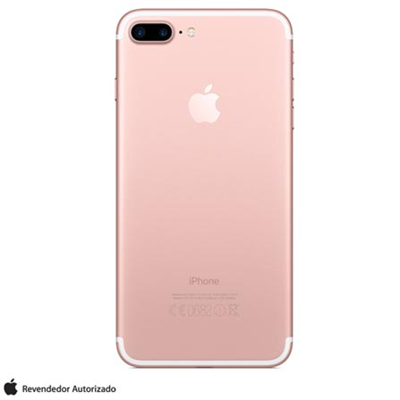 iPhone 7 Plus Ouro Rosa, 5,5, 256GB, 12 MP - MN502BZ/A + Cabo Lightning USB Apple para iPod, iPhone e iPad  MD818BZ/A, 0