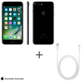 iPhone 7 Plus Preto Brilhante, 5,5, 256GB - MN512BZ/A + Cabo Lightning USB Apple para iPod, iPhone e iPad  MD818BZ/A