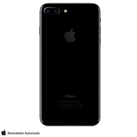 iPhone 7 Plus Preto Brilhante, 5,5, 256GB - MN512BZ/A + Cabo Lightning USB Apple para iPod, iPhone e iPad  MD818BZ/A, 1