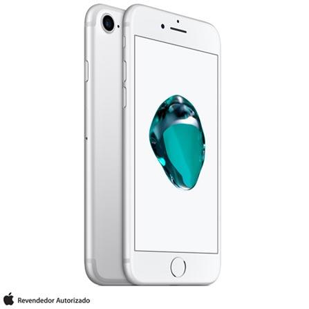 iPhone 7 Prata 4,7, 32GB, 12 MP - MN8Y2BZA/A + Cabo Lightning USB Apple para iPod, iPhone e iPad  MD818BZ/A, 0