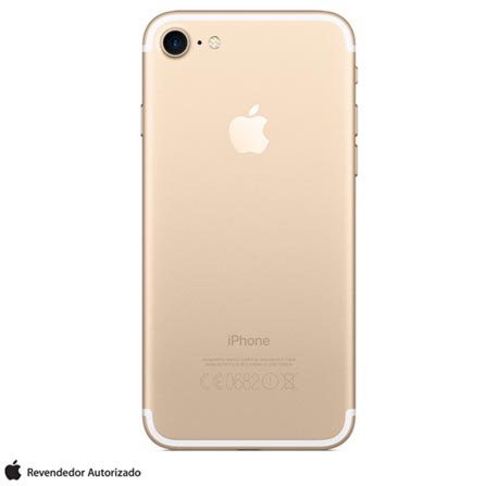 iPhone 7 Dourado 4,7, 32GB, 12 MP - MN902BZ/A + Cabo Lightning USB Apple para iPod, iPhone e iPad  MD818BZ/A, 1