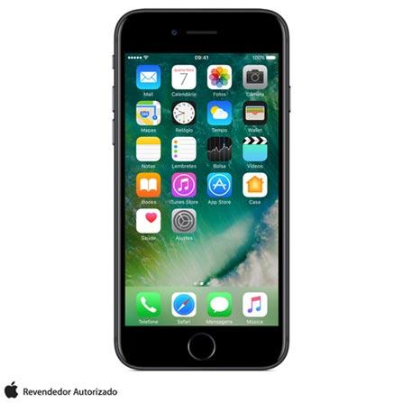 iPhone 7 Preto Matte 4,7, 128GB, 12 MP - MN922BZ/A + Cabo Lightning USB Apple para iPod, iPhone e iPad  MD818BZ/A, 0
