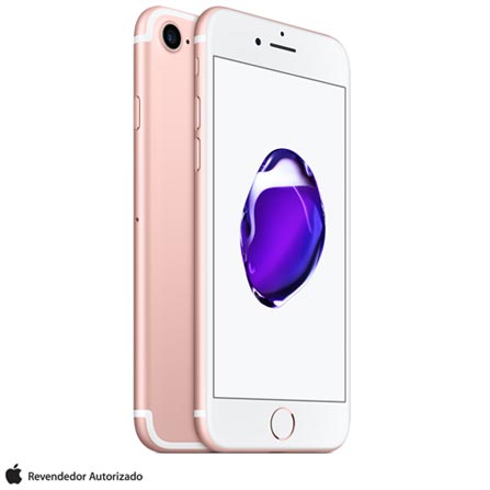 iPhone 7 Ouro Rosa, 4,7, 4G, 128 GB e 12 MP - MN952BZ/A + Cabo Lightning USB Apple com 1 metro - MD818BZ/A, 0