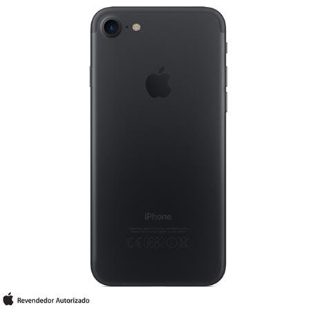 iPhone 7 Preto Matte, 4,7, 256GB, 12MP - MN972BZ/A + Cabo Lightning USB Apple para iPod, iPhone e iPad  MD818BZ/A, 0
