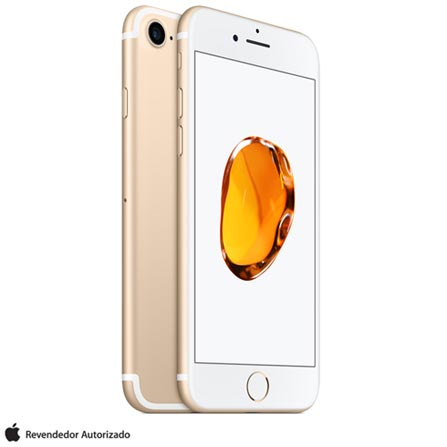 iPhone 7 Dourado, 4,7, 256 GB, 12MP - MN992BZ/A + Cabo Lightning USB Apple para iPod, iPhone e iPad  MD818BZ/A, 1