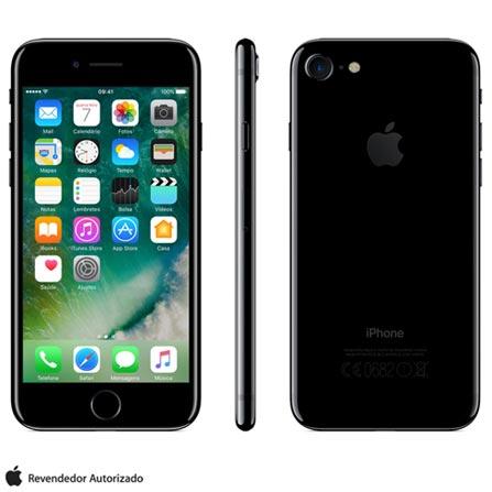 iPhone 7 Preto Brilhante, 4,7,256GB, 12MP - MN9C2BZ/A + Cabo Lightning USB Apple para iPod, iPhone e iPad  MD818BZ/A, 1