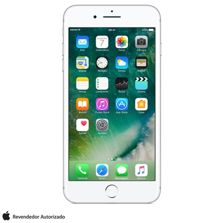 iPhone 7 Plus Prata, 5,5, 4G, 32 GB e 12 MP - MNQN2BZ/A + Cabo Lightning USB Apple com 1 metro - MD818BZ/A, 0