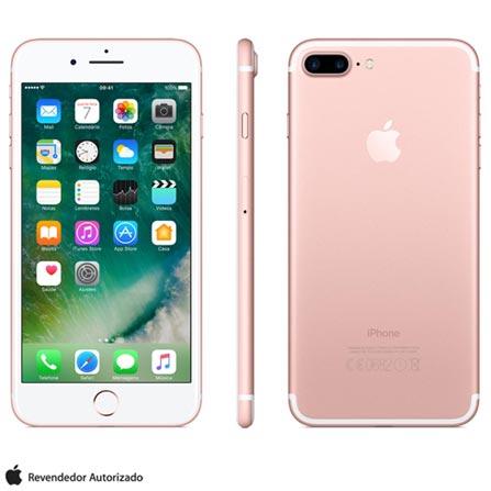 iPhone 7 Plus Ouro Rosa, 5,5, 4G, 32 GB e 12 MP - MNQQ2BZ/A + Cabo Lightning USB Apple com 1 metro - MD818BZ/A, 1