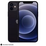 iPhone 12 Preto, com Tela de 6,1', 5G, 128 GB e Câmera Dupla de 12MP Ultra-angular + 12MP Grande-angular - MGJA3BZ/A