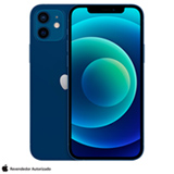 iPhone 12 Azul, com Tela de 6,1', 5G, 128 GB e Câmera Dupla de 12MP Ultra-angular + 12MP Grande-angular - MGJE3BZ/A