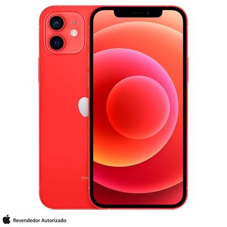 Celular Smartphone Apple iPhone 12 256gb Vermelho - Dual Chip