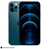 iPhone 12 Pro Azul-Pacífico, com Tela de 6,1', 5G, 256 GB e Câmera Tripla de 12MP - MGMT3BZ/A