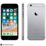 "iPhone 6s Cinza Espacial, com Tela de 4.7"" 4G, 128 GB, e Câmera de 12 MP - MKQT2BR/A"