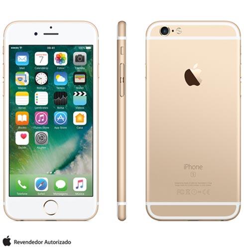 """iPhone 6s Dourado, com Tela de 4.7"""" 4G, 128 GB, e Câmera de 12 MP - MKQV2BR/A, Bivolt, Bivolt, Dourado, 0000004.70, True, 1, N, True, True, True, True, True, True, I, iPhone 6s, iOS, Wi-Fi + 4G, 4.7'', Acima de 4'', A9, 128 GB, 12 MP, 1, Não, Não, Sim, Não, Sim, Nano Chip, 12 meses"""