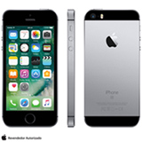 """iPhone SE Cinza Espacial, com Tela de 4"""", 4G, 16 GB e Câmera de 12 MP - MLLN2BZ/A"""