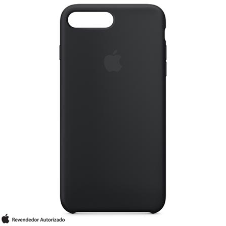 Capa para iPhone 7 Plus de Silicone Preta - Apple - MMQR2ZM/A, Preto, Capas e Protetores, 12 meses
