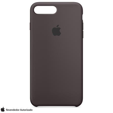 Capa para iPhone 7 Plus de Silicone Cacau - Apple - MMT12ZM/A, Marrom, Capas e Protetores, 12 meses