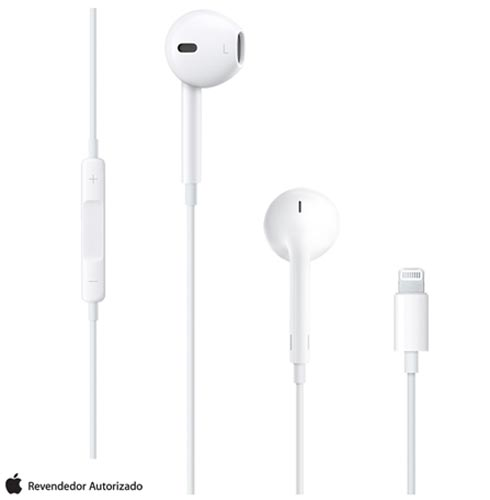 Fone de Ouvido EarPods com Conector Lightning Branco - Apple - MMTN2BZ/A, Branco, 12 meses