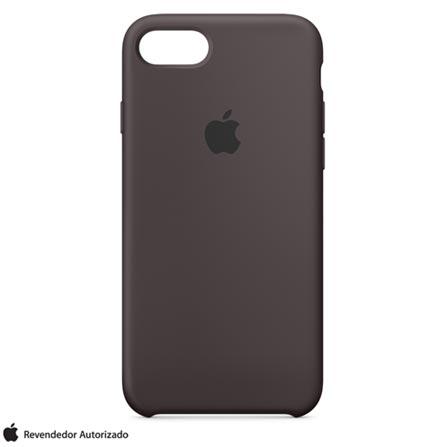 Capa Protetora para iPhone 7 de Silicone Cacau - Apple - MMX22ZMA, Marrom, Capas, Cases e Mochilas, 12 meses