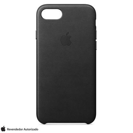 Capa para iPhone 7 de Couro Preto - Apple - MMY52ZM/A, Preto, Capas e Protetores, 12 meses