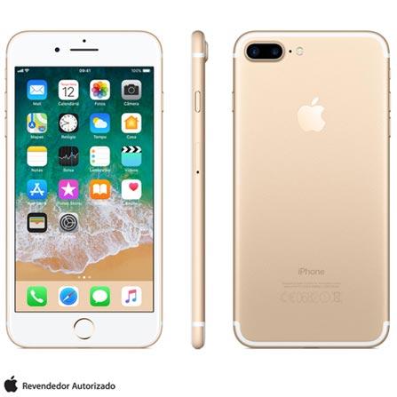 Iphone 7 Plus Dourado, Com Tela de 5,5, 4g, 128 Gb e Câmera de 12 Mp - Mn4q2bz/a - Aemn4q2bzadrd Bivolt