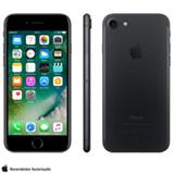 """iPhone 7 Preto Matte com Tela de 4,7"""", 4G, 32 GB e Câmera de 12 MP - MN8X2BR/A"""