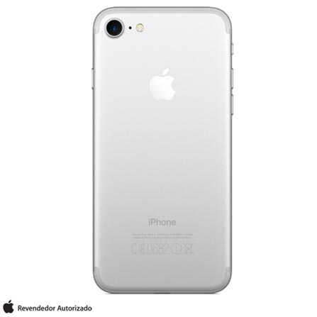 """iPhone 7 Prata com Tela de 4,7"""", 4G, 32 GB e Câmera de 12 MP - MN8Y2BR/A, Bivolt, Bivolt, Prata, 0000004.70, True, 3, N, True, True, True, True, True, True, I, iOS, Wi-Fi + 4G, 4.7'', Acima de 4'', A10, 32 GB, 12 MP, 1, Não, Não, Nano Chip, 12 meses"""