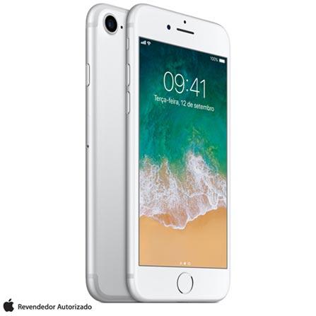 """iPhone 7 Prata com Tela de 4,7"""", 4G, 128 GB e Câmera de 12 MP - MN932BR/A, Bivolt, Bivolt, Prata, 0000004.70, True, 1, N, True, True, True, True, True, True, I, iOS, Wi-Fi + 4G, 4.7'', Acima de 4'', A10, 128 GB, 12 MP, 1, Não, Não, Nano Chip, 12 meses"""