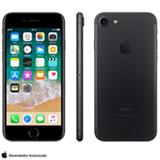 """iPhone 7 Preto Matte com Tela de 4,7"""", 4G, 256 GB e Câmera de 12 MP - MN972BR/A"""