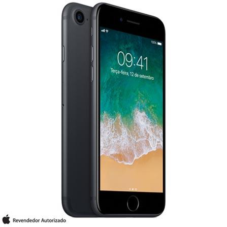 Iphone 7 Preto Matte Com Tela de 4,7, 4g, 256 Gb e Câmera de 12 Mp - Mn972br/a - Aemn972brapto Bivolt