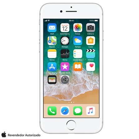 """iPhone 7 Prata com Tela de 4,7"""", 4G, 256 GB e Câmera de 12 MP - MN982BZ/A, Bivolt, Bivolt, Prata, 0000004.70, True, 1, N, True, True, True, True, True, True, I, iPhone 7, iOS, Wi-Fi + 4G, 4.7'', Acima de 4'', A10, 256 GB, 12 MP, 1, Não, Não, Nano Chip, 12 meses"""