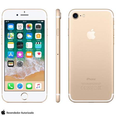Iphone 7 Dourado Com Tela de 4,7, 4g, 256 Gb e Câmera de 12 Mp - Mn992br/a - Aemn992bradrd Bivolt
