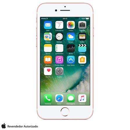 iPhone 7 Ouro Rosa com Tela de 4,7, 4G, 256 GB e Camera de 12 MP - MN9A2BZ/A, Bivolt, Bivolt, Rosa, 0000004.70, True, 1, N, True, True, True, True, True, True, I, iPhone 7, iOS, Wi-Fi + 4G, 4.7'', Acima de 4'', A10, 256 GB, 12 MP, 1, Não, Não, Nano Chip, 12 meses
