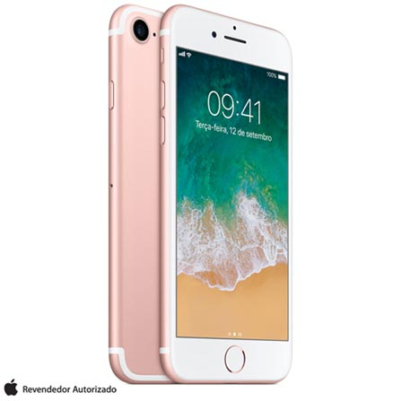 Iphone 7 Ouro Rosa Com Tela de 4,7, 4g, 256 Gb e Câmera de 12 Mp - Mn9a2bz/a - Aemn9a2bzarsa Bivolt